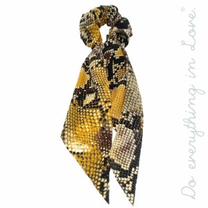 """Do everything in Love brand snakeskin ponytail hair scarf scrunchie.  - One size - Approximately 11.5"""" in length - 100% Polyester"""