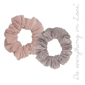 Do everything in Love Brand Pleated Scrunchie Set of Two.  - 2 Scrunchies Per Pack - 100% Polyester