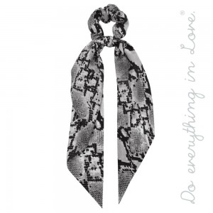 """Do everything in Love brand snakeskin hair scarf scrunchie.  - One size - Approximately 11"""" L - 100% Polyester"""