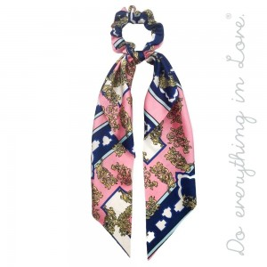 """Do everything in Love brand designer print inspired hair scarf scrunchie.  - One size  - Approximately 12"""" L - 100% Polyester"""