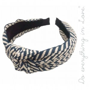 Do everything in Love brand knotted geometric embroidered headband.  - One size - 100% Polyester