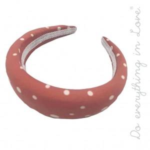 Do everything in Love brand plush polka dot headband.  - One size - 100% Polyester
