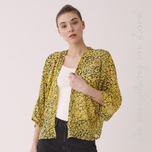 "Do everything in Love Brand Women's Lightweight Leopard Print Crop Kimono.  - One size fits most 0-14 - Approximately 28"" L - 100% Polyester"