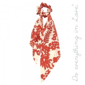 """Do everything in Love brand leaf print hair scarf scrunchie.  - One size - Approximately 11"""" L - 100% Polyester"""