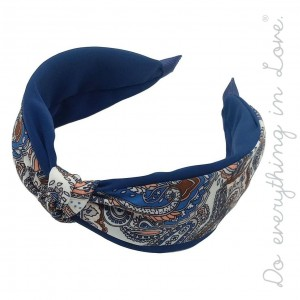 Do everything in Love brand two tone paisley print knotted headband.  - One size - 100% Polyester