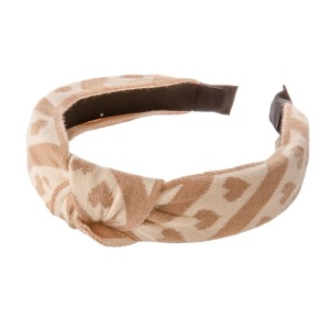 Knotted Heart Stripe Knit Headband.  - One size fits most - 100% Polyester