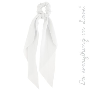 """Do everything in Love Brand Solid Color Hair Scarf.  - Approximately 12"""" L  - 100% Polyester"""