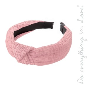 Do everything in Love Brand Knotted Pleated Headband.  - One size fits most - 100% Polyester