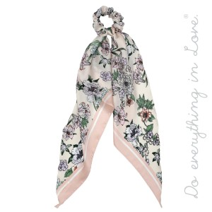 """Do everything in Love Brand Long Silky Floral Print Hair Scarf.  - Approximately 19"""" L - 100% Polyester"""