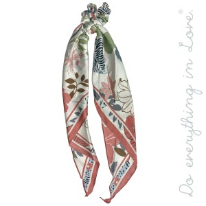 """Do everything in Love Brand Silky Floral Mix Print Hair Scarf.  - One size - Approximately 18"""" L - 100% Polyester"""