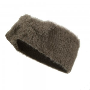 Fuzzy Knit Bow Headwrap.  - One size fits most - 50% Acrylic / 50% Polyester