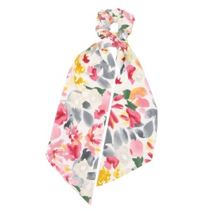 """Ladies Floral Print Hair Scarf.  - Approximately 13"""" L - 100% Polyester"""