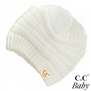 "C.C Baby-847 Solid knit beanie for baby  - 100% Acrylic - Band circumference is approximately:  9"" unstretched  16"" stretched - Approximately 6.5"" long from crown to band - Fit varies based on child's head height and shape"