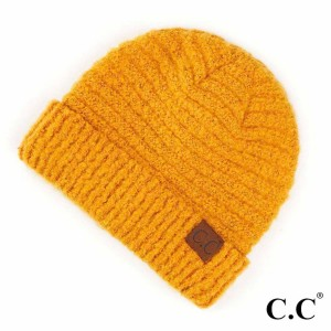 C.C HAT-7006  Solid Boucle Yarn Beanie.  - 100% Polyester Boucle - One size fits most - Matches C.C SF-7006 and G-7006