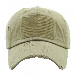 Vintage Distressed USA Baseball Cap.  - One size fits most  - Adjustable Back Closure - 100% Cotton