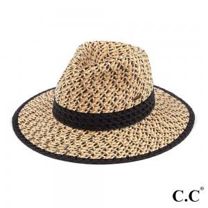 "C.C ST-902 Triple Heather Paper Panama Hat   - One size fits most - Inside adjustable drawstring - Brim Width: 3"" - 100% Paper"