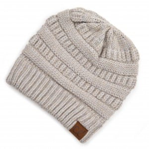 C.C HAT-888 Snuggly Soft Yarn Knit Beanie.  - One size fits most - 47% Rayon / 31% PBT / 22% Nylon