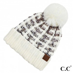 C.C HAT-2050 Ombre Double Slipstitch Pom Beanie.  - One size fits most  - 100% Acrylic
