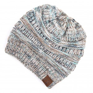 C.C HAT-2052 Multicolor Ribbed Knit Beanie.  - One size fits most - 100% Acrylic