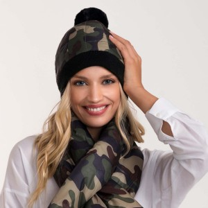 Do everything in Love Brand Puffy Camouflage Pom Beanie.  - One size fits most - 100% Nylon