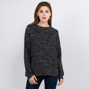 "Solid Heather Knit Sweater.  - One size fits most 0-14 - Approximately 23"" L - 100% Acrylic"