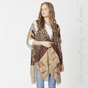 """Do everything in Love Brand Lightweight Multi Animal Print Kimono.  - One size fits most 0-14 - Approximately 36"""" L - 100% Viscose"""