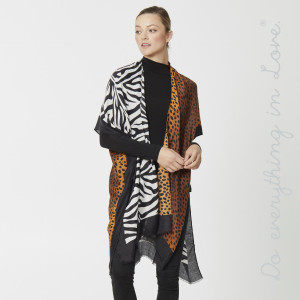 """Do everything in Love Brand Lightweight Animal Print Kimono.  - One size fits most 0-14 - Approximately 36"""" L - 100% Polyester"""