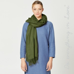 """Do everything in Love Brand Solid Color Oblong Scarf with Fringe Tassels.  - Approximately 26"""" W x 80"""" L - 100% Polyester"""