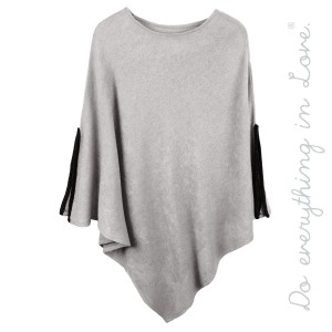 """Do everything in Love Brand Solid Color Thin Knit Poncho Featuring Slit Sleeve Detail.  - One size fits most 0-14 - Approximately 38"""" L - 100% Acrylic"""