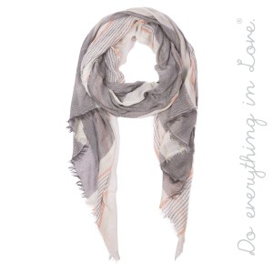 "Do everything in Love brand women's lightweight sheer metallic stripe scarf.  - Approximately 33"" W x 80"" L - 100% Polyester"