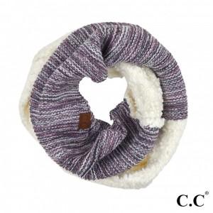 "C.C INF-7391 Popcorn Yarn Sherpa Knit Infinity Scarf.  - Approximately 29"" L x 11"" W  - 50% Acrylic / 50% Nylon"