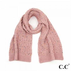 "C.C SF-2070 Confetti Chenille Scarf.  - Approximately 77"" L x 12.5"" W  - 89% Polyester / 11% Nylon"