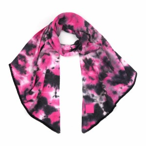 """C.C SF-7380 Tie-Dye Bias Cut Scarf Featuring C.C Brand Rubber Patch   - Approximately 91"""" L x 16.5"""" W  - 52% Viscose / 28% Polyester / 20% Nylon"""