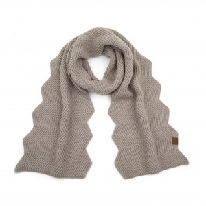 "C.C SF-9000 Chevron Knit Pattern Scarf.  - Approximately 86"" L x 11"" W - 85% Acrylic / 10% Nylon / 5% Polyester"