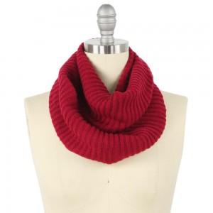 "Cowl Neck Style Knit Infinity Scarf.  - Approximately 9"" W x 25"" L  - 100% Acrylic"