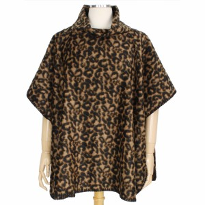 """Fall/Winter Leopard Print Poncho.  - One size fits most 0-14 - Approximately 30"""" L  - 100% Polyester"""