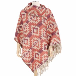 """Fall/Winter Western Print Tassel Poncho.  - One size fits most 0-14 - Approximately 33"""" L  - 100% Polyester"""