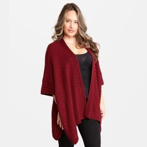 "Women's Fall/Winter Knit Kimono.  - One size fits most 0-14 - Approximately 33"" L - 100% Acrylic"