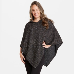 """Women's Confetti Knit Poncho.  - One size fits most 0-14 - Approximately 33"""" L  - 100% Acrylic"""