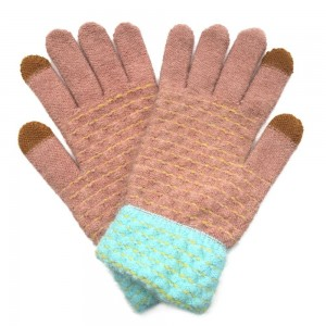 Do everything in Love Brand Woven Knit Smart Touch Gloves.  - Touchscreen Compatible - One size fits most - 100% Acrylic