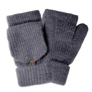 Do everything in Love Brand Fingerless Pop Top Knit Mittens.  - Fingerless  - Pop Top w/button  - One size fits most - 100% Acrylic
