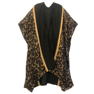 """Do everything in Love Brand Lightweight Leopard Print Kimono Featuring Bordered Trim Detail.  - One size fits most 0-14 - Approximately 36"""" Long - 100% Polyester"""