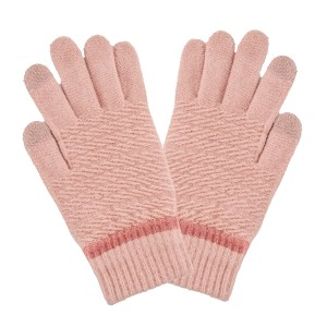 Fleece Lined Cable Knit Smart Touch Gloves.  - Touchscreen Compatible - One size fits most - Body: 98% Polyester / 1% Rubber / 1% Spandex - Fingers: 80% Acrylic / 12% Metal / 1% Spandex / 7% Other Fibers