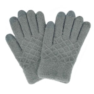 Do everything in Love Brand Waffle Knit Texture Smart Touch Gloves.  - One size fits most - 100% Acrylic