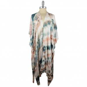 Lightweight Tie Dye Kimono.   - 100% Polyester  - One Size Fits Most 0-14  - Open Closure Design & Relaxed Fit  - Hand Wash Cold / Do Not Bleach, Tumble Dry, Or Iron