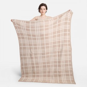 """Super Soft Jacquard Plaid Comfy Luxe Knit Blanket. The Softest Throw Blanket Made of the Highest Quality Material. So Soft You Have to Feel Them for Yourself. This Luxurious Throw is a Guaranteed Best Seller this Season!   - Approximately 50"""" W x 60"""" L -100% Polyester  - Extra Plush and Cozy"""