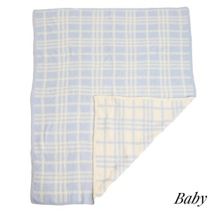 """Super Soft Plaid Comfy Luxe Knit Baby Blanket. The Softest Throw Blanket Made of the Highest Quality Material. So Soft You Have to Feel Them for Yourself. This Luxurious Throw is a Guaranteed Best Seller this Season!  - Approximately 29"""" W x 35"""" L - 100% Polyester - Extra Plush and Cozy"""