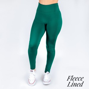 """Women's New Mix Brand Solid Color Seamless Fleece Lined Leggings.  - Fleece Lined - 2"""" Elastic Waistband - Full-Length - One size fits most 0-14 - Inseam Approximately 26"""" L - 92% Nylon / 8% Spandex"""