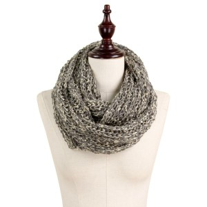 Soft knit multicolor infinity scarf.  - 100% Acrylic