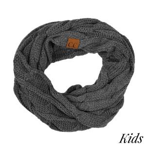 """C.C SF-800 KIDS Kids Cable Knit Infinity Scarf  - 100% Acrylic - W: 9"""" X L: 51"""""""